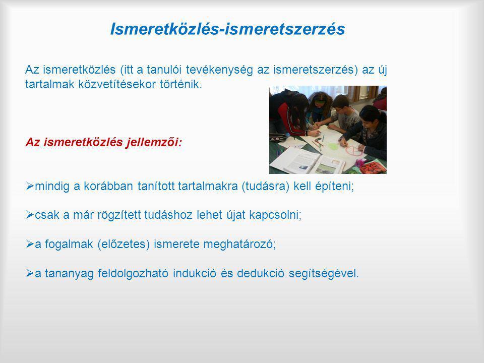 Ismeretközlés-ismeretszerzés