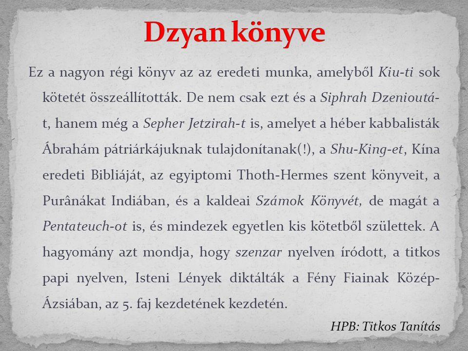 Dzyan könyve