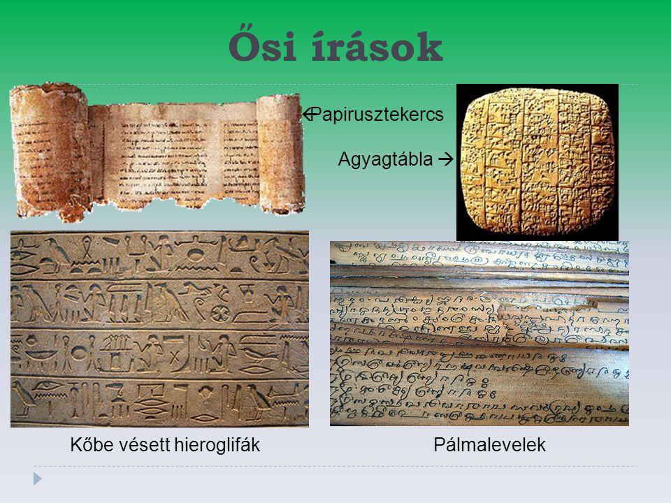 Kőbe vésett hieroglifák