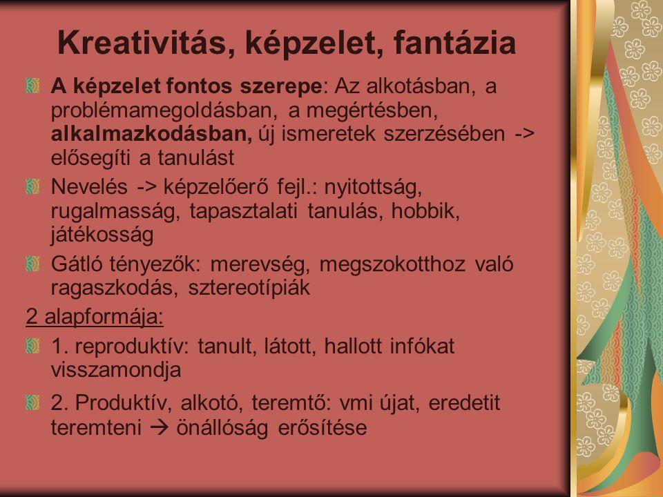 Kreativitás, képzelet, fantázia