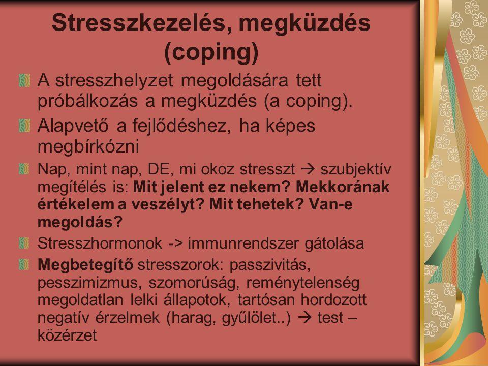 Stresszkezelés, megküzdés (coping)