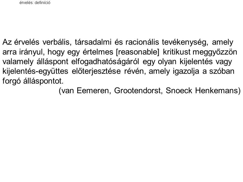 (van Eemeren, Grootendorst, Snoeck Henkemans)