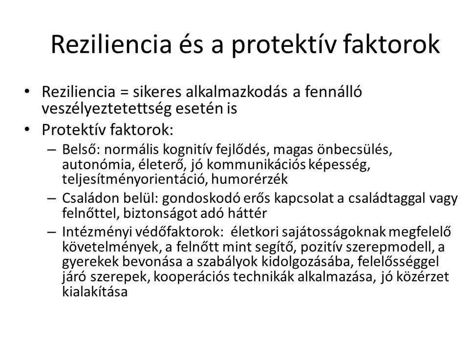 Reziliencia és a protektív faktorok