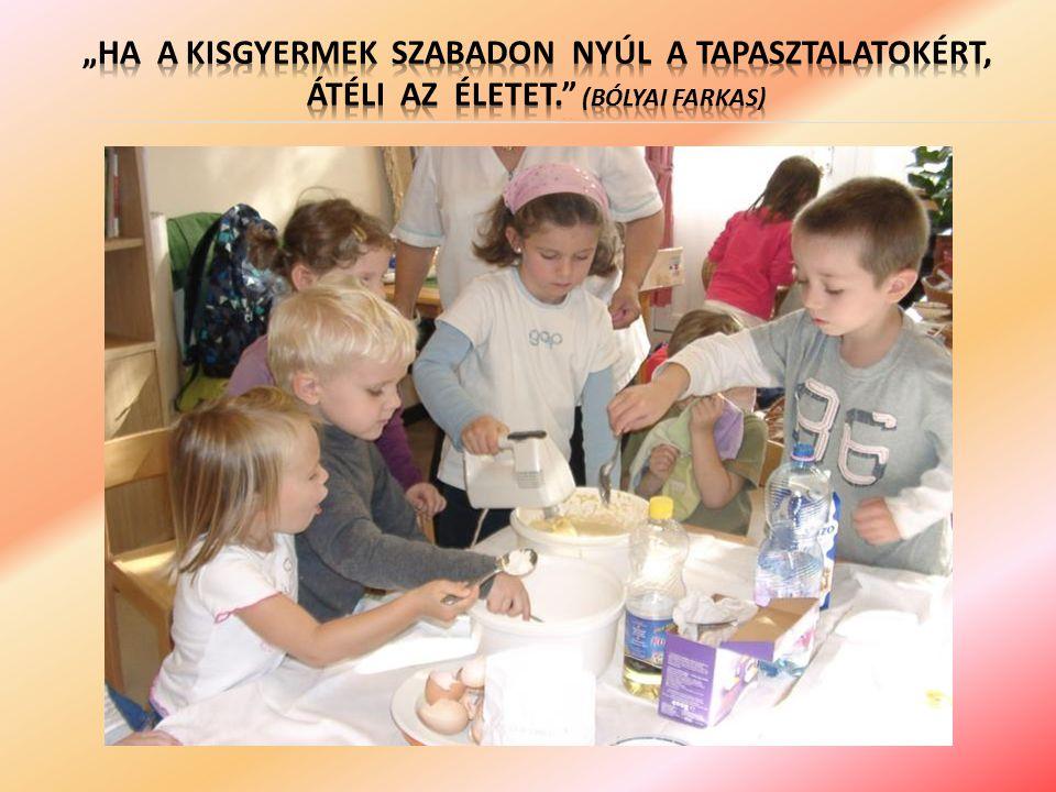 """""""Ha a kisgyermek szabadon nyúl a tapasztalatokért, átéli az életet"""