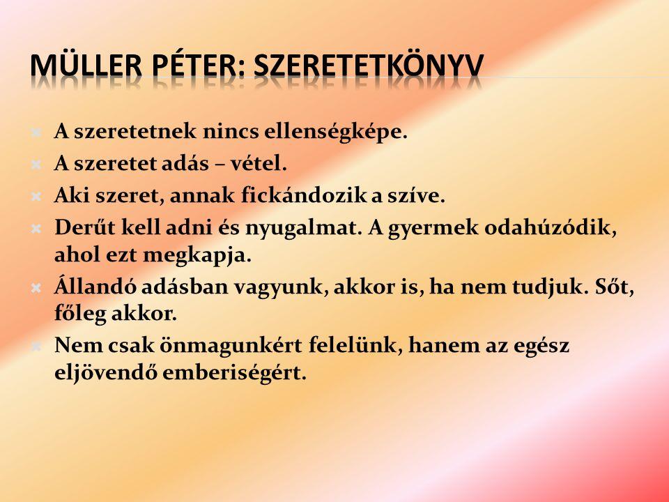 Müller Péter: Szeretetkönyv