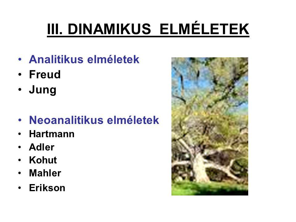 III. DINAMIKUS ELMÉLETEK