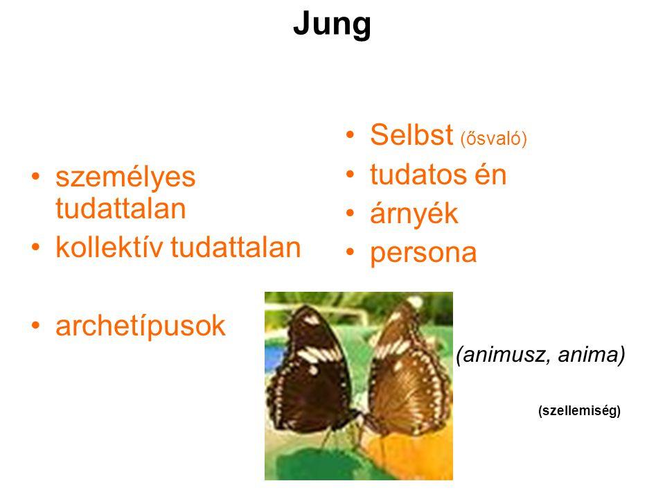 Jung Selbst (ősvaló) személyes tudattalan tudatos én árnyék