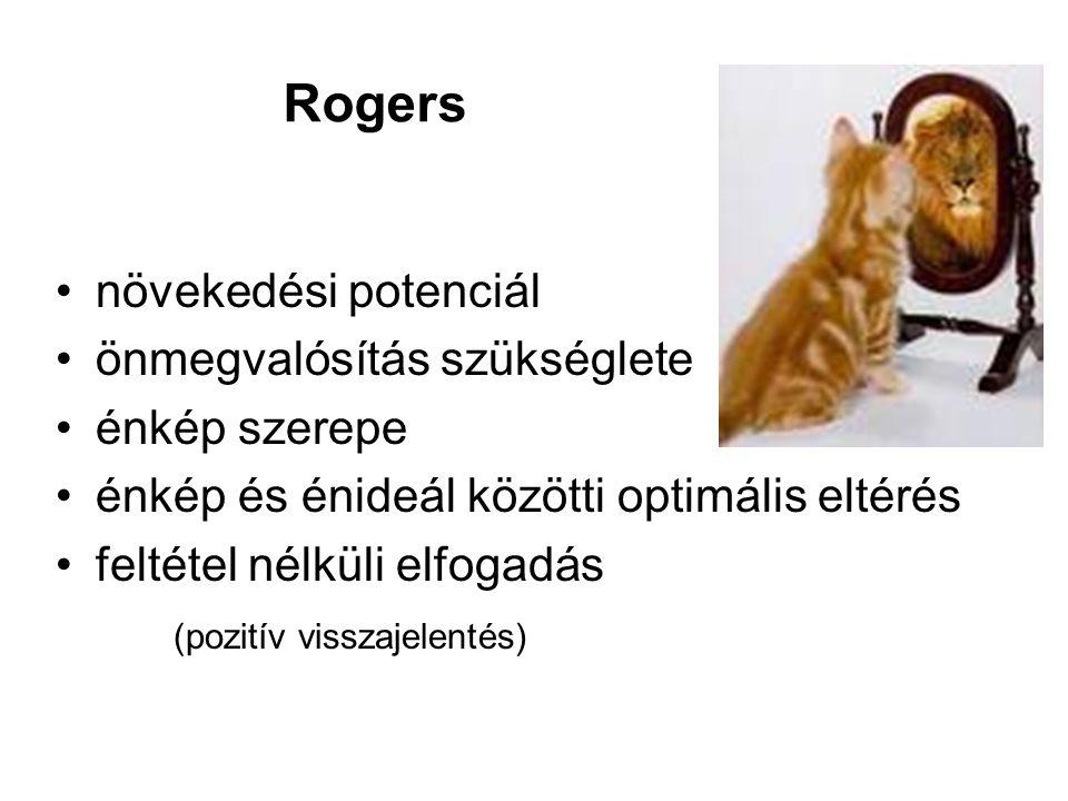Rogers növekedési potenciál önmegvalósítás szükséglete énkép szerepe