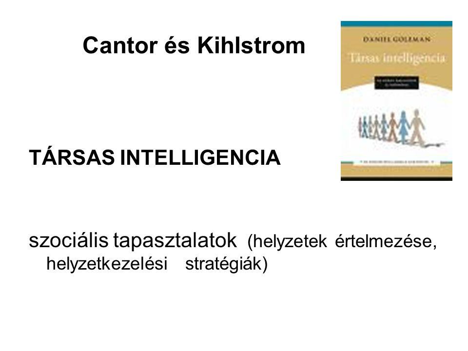 Cantor és Kihlstrom TÁRSAS INTELLIGENCIA
