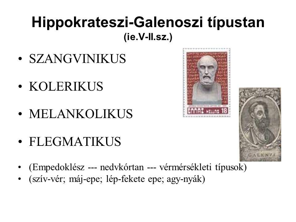 Hippokrateszi-Galenoszi típustan (ie.V-II.sz.)