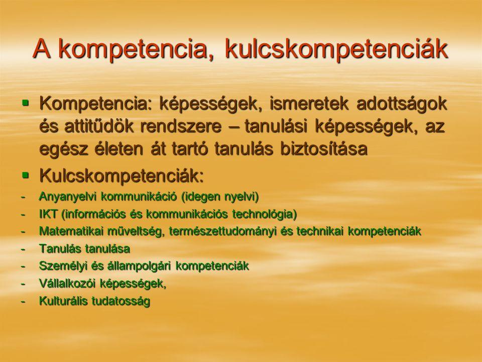 A kompetencia, kulcskompetenciák