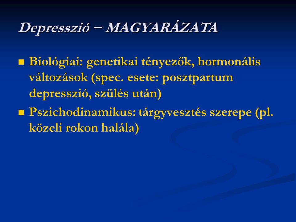 Depresszió − MAGYARÁZATA