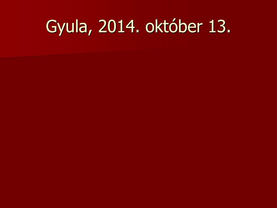 Gyula, 2014. október 13.