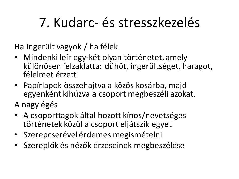 7. Kudarc- és stresszkezelés