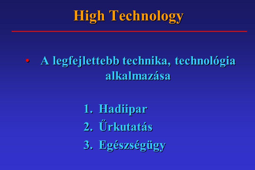 A legfejlettebb technika, technológia alkalmazása