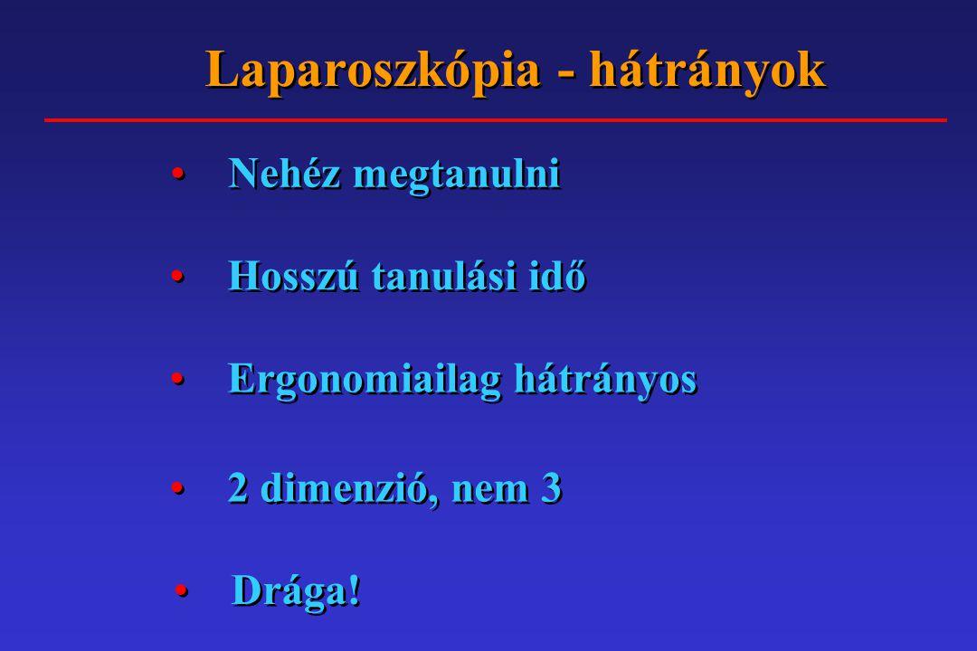 Laparoszkópia - hátrányok