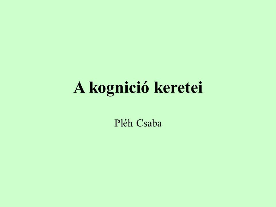 A kognició keretei Pléh Csaba