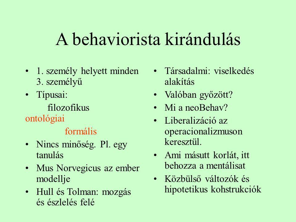 A behaviorista kirándulás