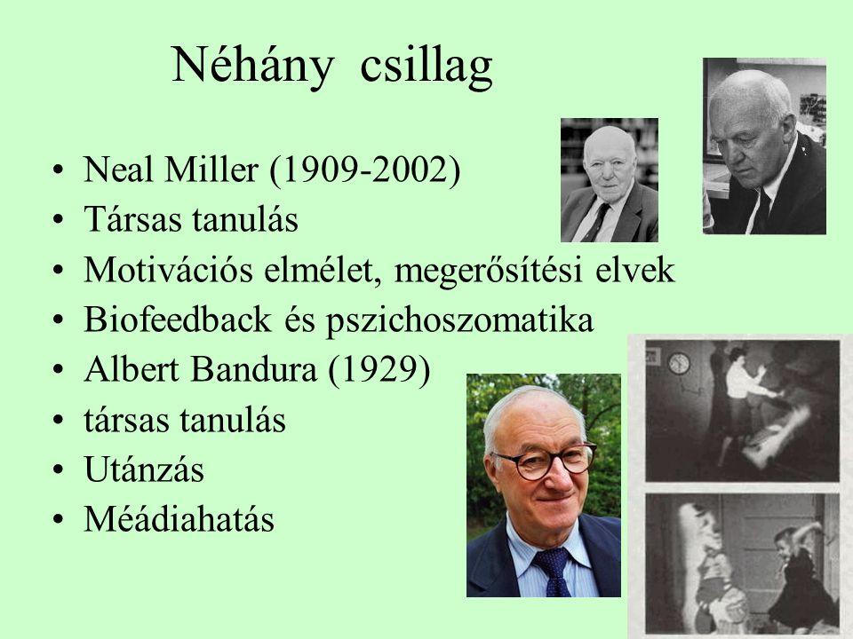 Néhány csillag Neal Miller (1909-2002) Társas tanulás