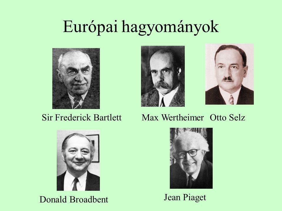 Európai hagyományok Sir Frederick Bartlett Max Wertheimer Otto Selz