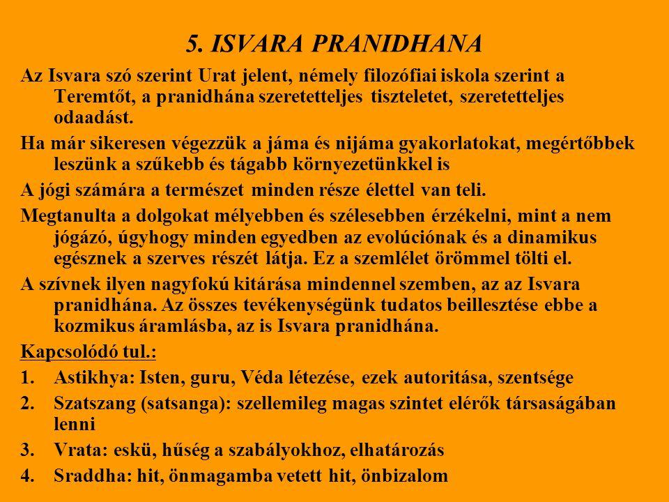 5. ISVARA PRANIDHANA