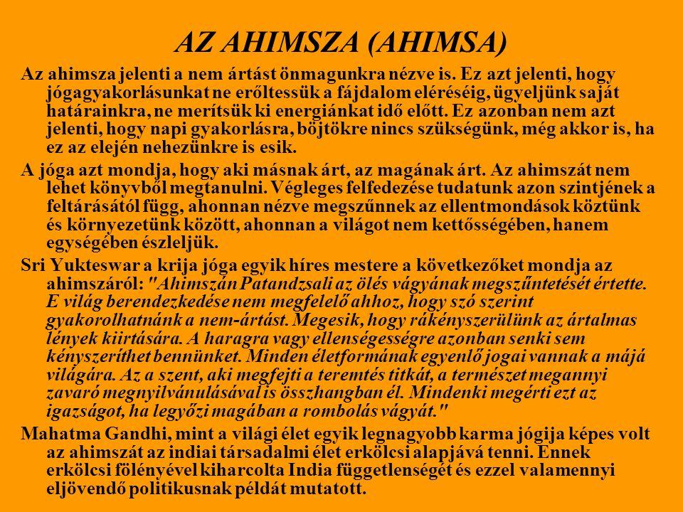 AZ AHIMSZA (AHIMSA)