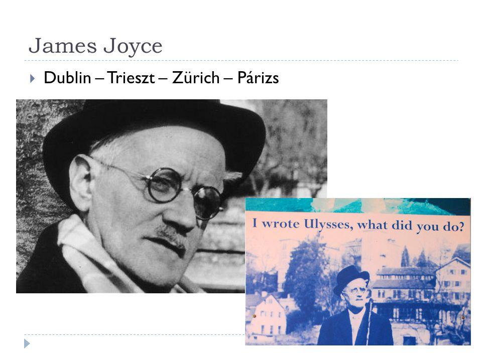 James Joyce Dublin – Trieszt – Zürich – Párizs