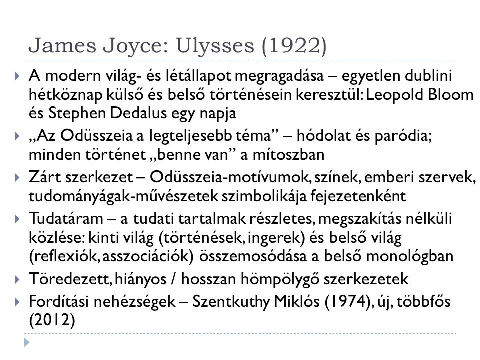James Joyce: Ulysses (1922)