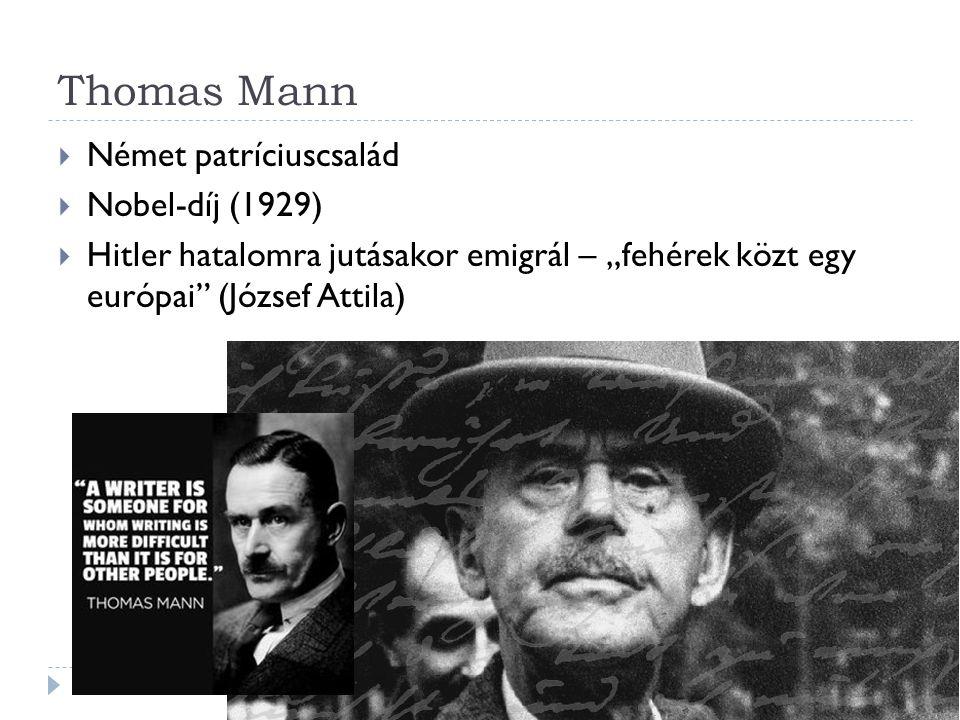 Thomas Mann Német patríciuscsalád Nobel-díj (1929)