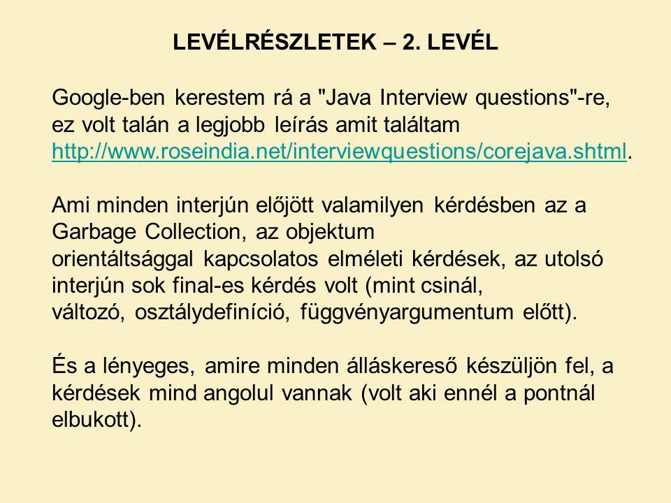 LEVÉLRÉSZLETEK – 2. LEVÉL
