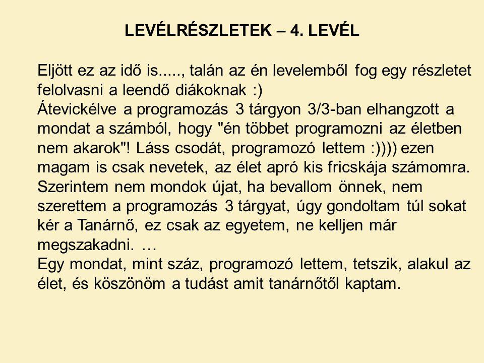 LEVÉLRÉSZLETEK – 4. LEVÉL