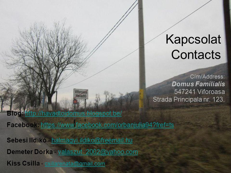 Kapcsolat Contacts Domus Familialis 547241 Viforoasa