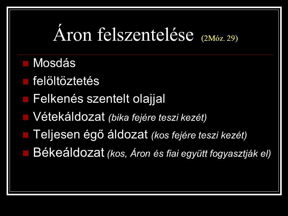 Áron felszentelése (2Móz. 29)