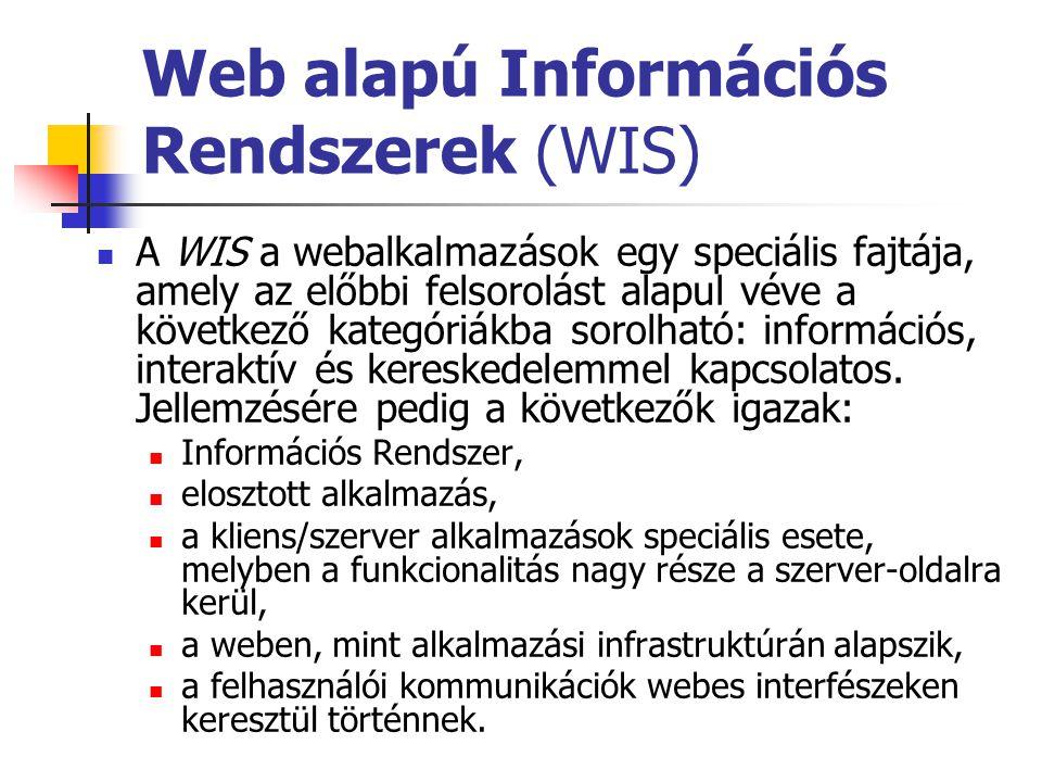 Web alapú Információs Rendszerek (WIS)