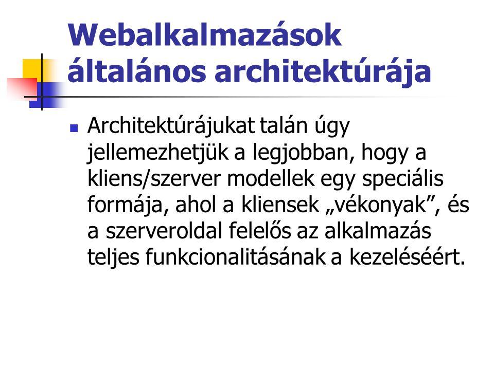 Webalkalmazások általános architektúrája