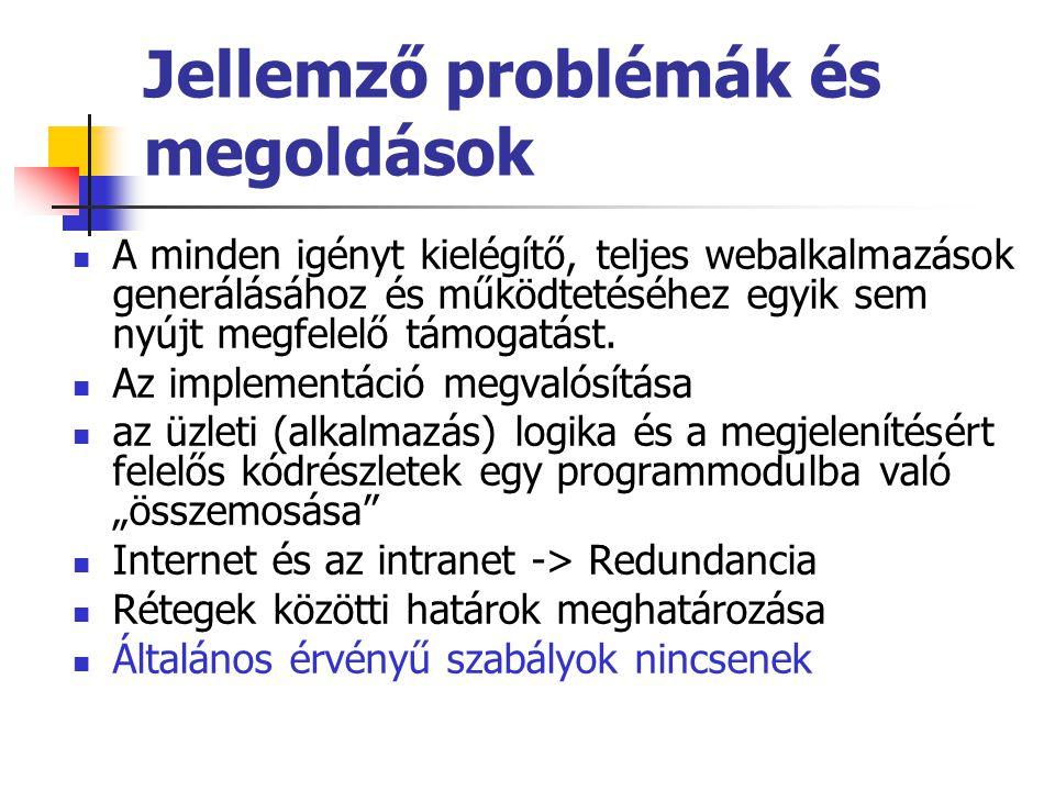 Jellemző problémák és megoldások
