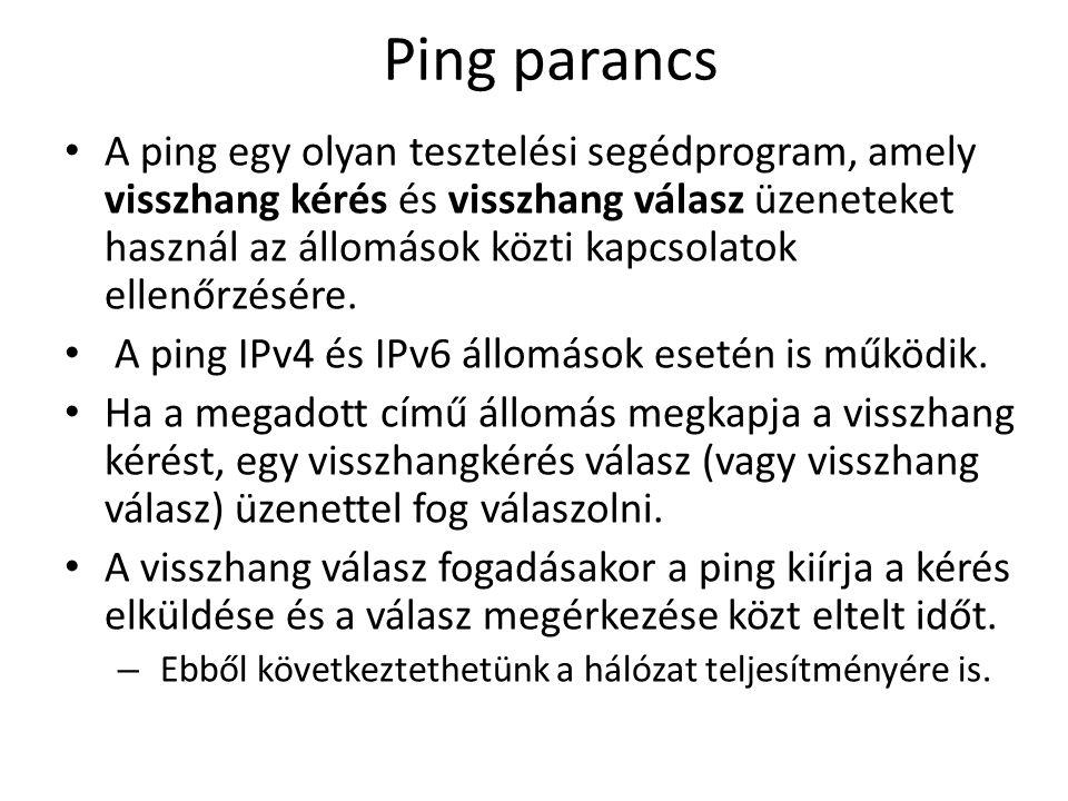 Ping parancs