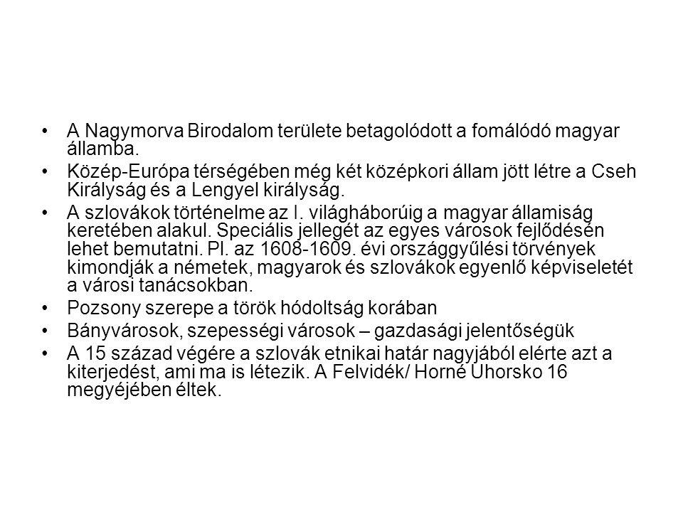 A Nagymorva Birodalom területe betagolódott a fomálódó magyar államba.