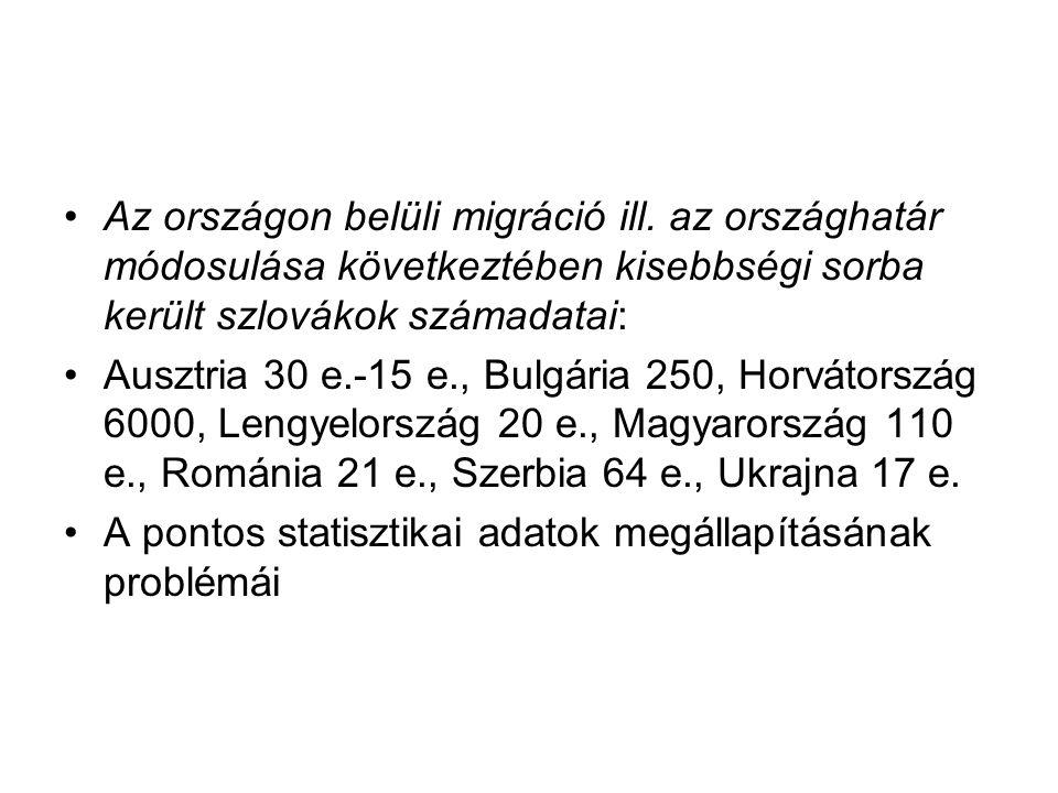 Az országon belüli migráció ill