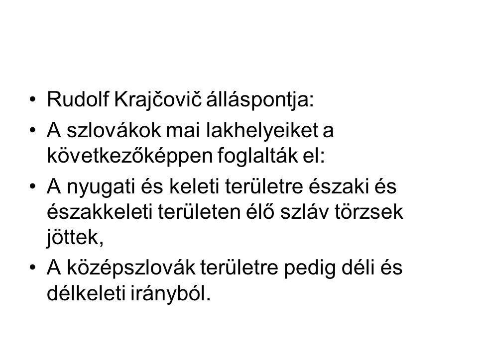 Rudolf Krajčovič álláspontja: