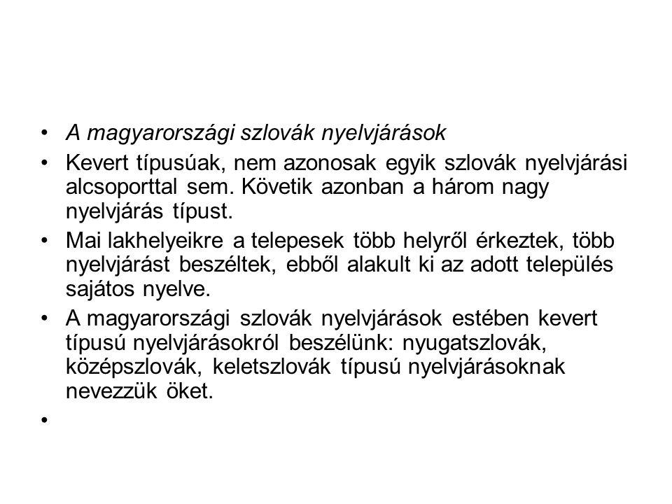 A magyarországi szlovák nyelvjárások