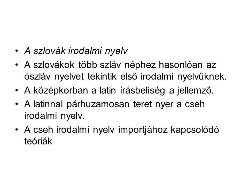 A szlovák irodalmi nyelv