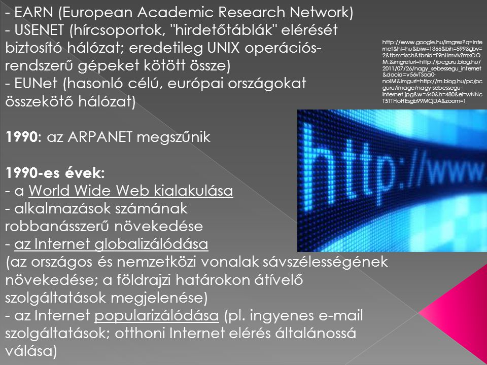 - EARN (European Academic Research Network)