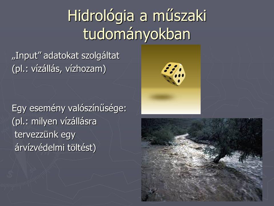 Hidrológia a műszaki tudományokban