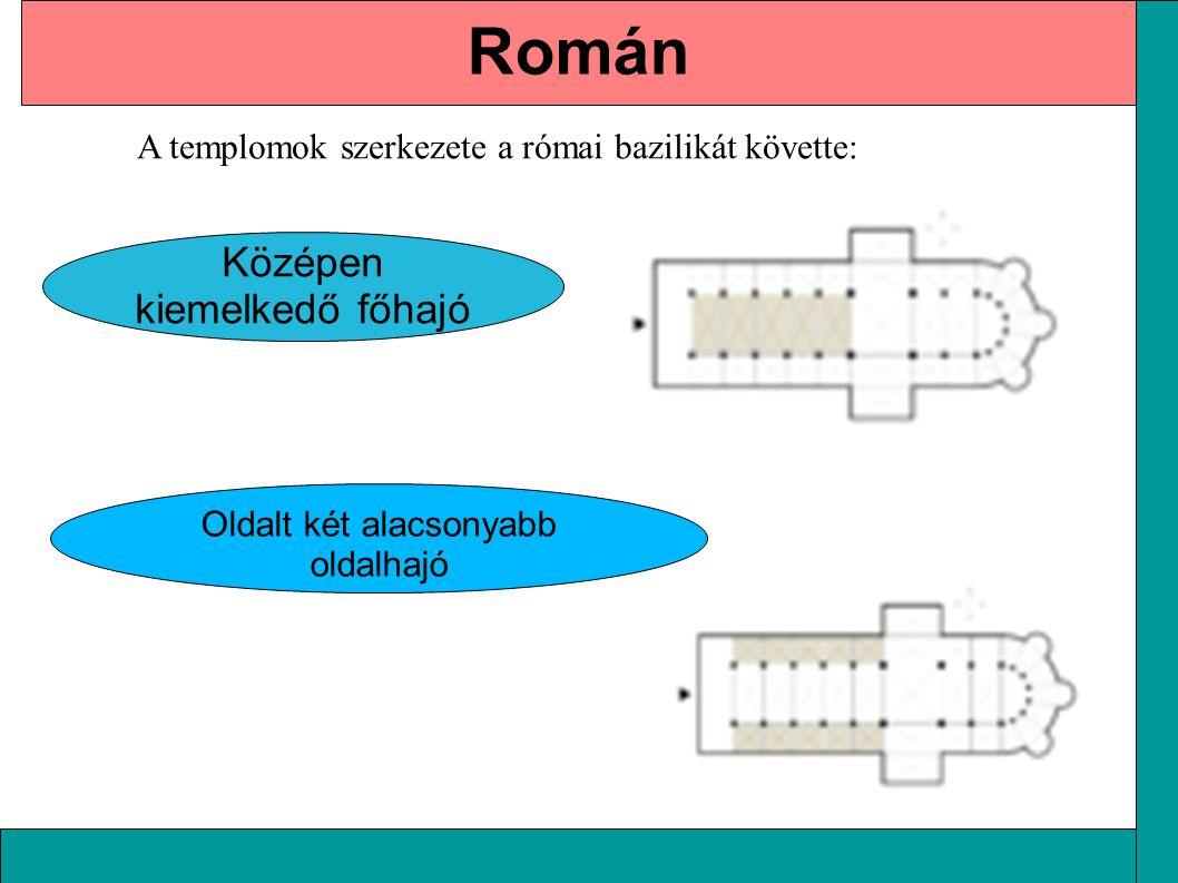 Román Középen kiemelkedő főhajó