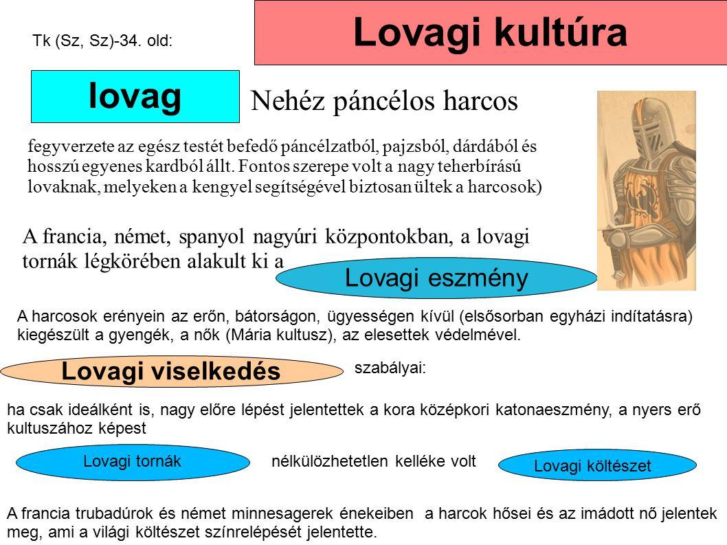 Lovagi kultúra lovag Nehéz páncélos harcos Lovagi eszmény