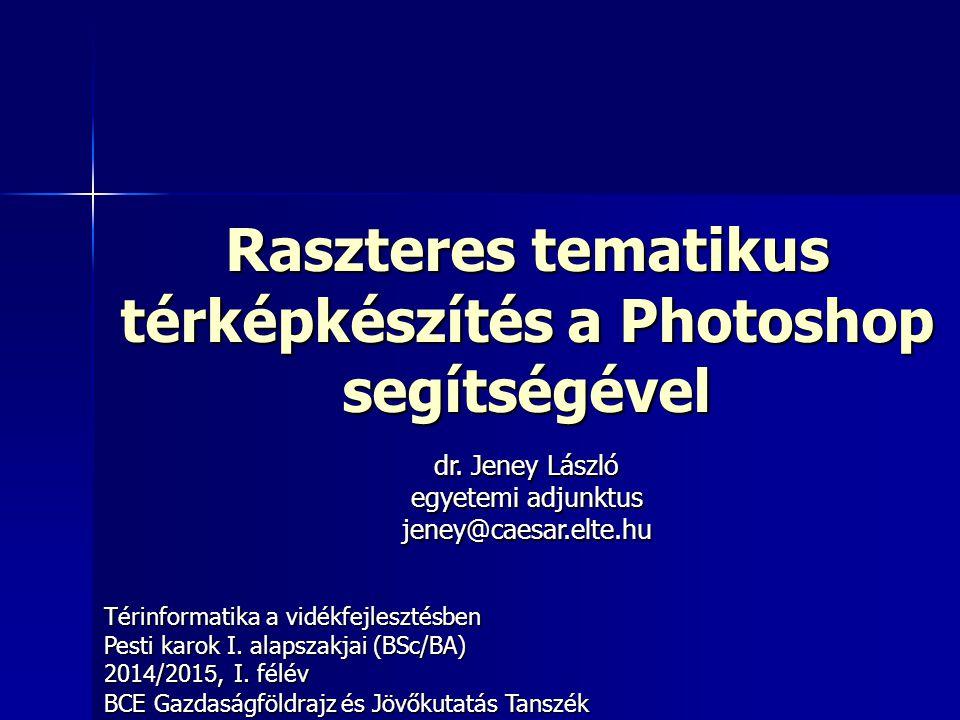Raszteres tematikus térképkészítés a Photoshop segítségével
