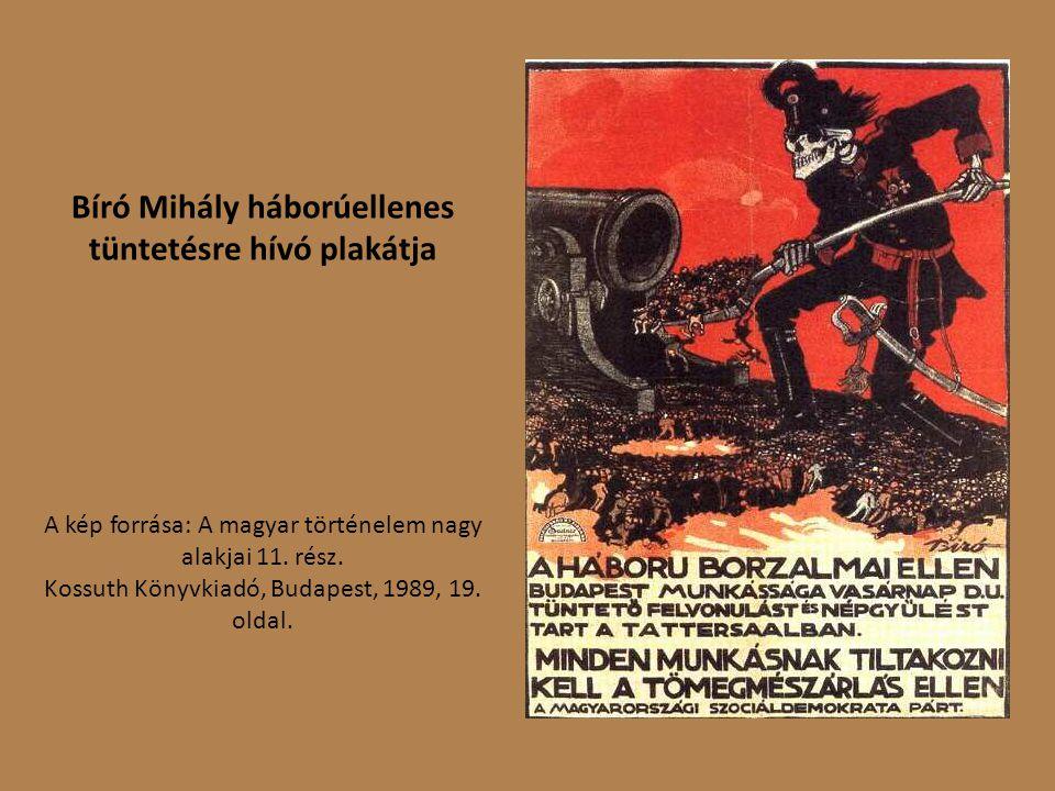 Bíró Mihály háborúellenes tüntetésre hívó plakátja