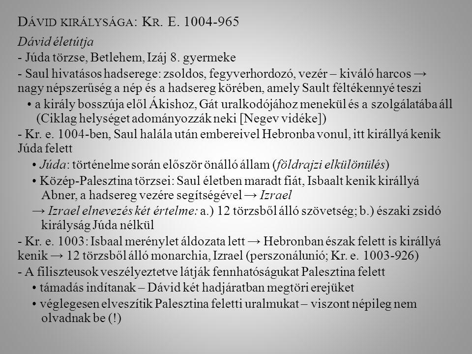Dávid királysága: Kr. E. 1004-965