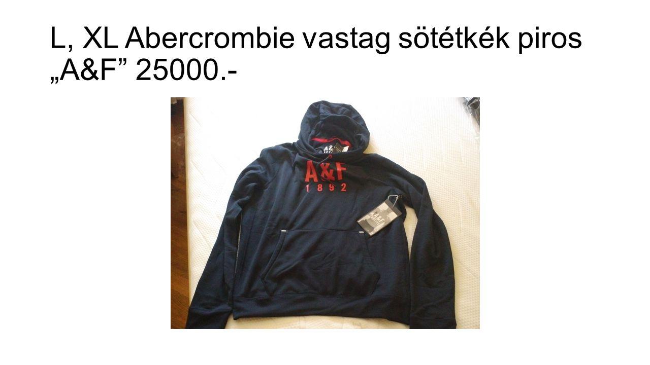 """L, XL Abercrombie vastag sötétkék piros """"A&F 25000.-"""